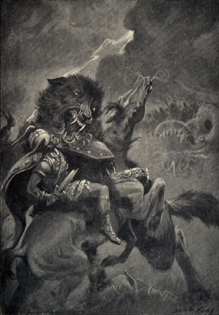 Fenrir and Odin
